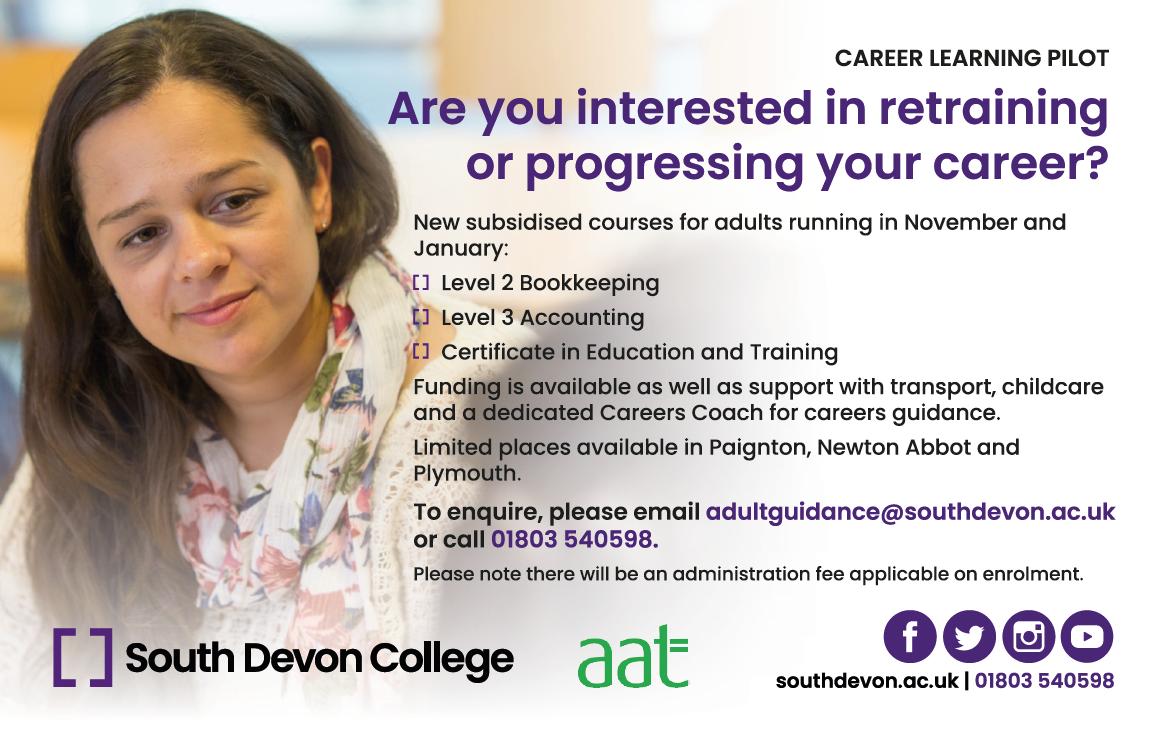Career-Learning-Pilot-South-Devon-College-Advert
